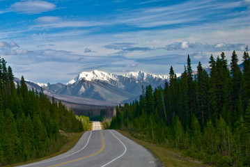 Highway in Kootenay National Park