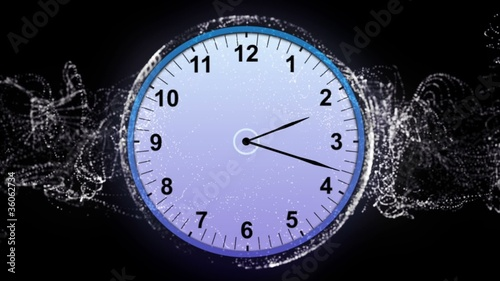 Clock Background Particle- HD1080
