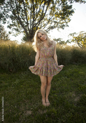 Backlit Blond in Sun Dress