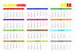 Calendario español 2012