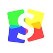 Logo letter S, colours # Vector