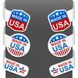 Left and right side signs - MADE IN USA. Vector.