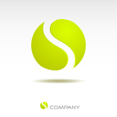 Logo letter S, tennis ball # Vector