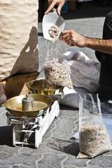 Vendor weighing bakhoor