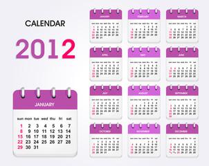 calendar 2012 new