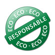 "Tampon ""ECO RESPONSABLE"" (commerce équitable solidaire label)"