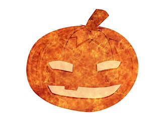 Illustration halloween pumpkin.