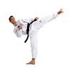 Taekwondo, Sidekick, vor weiß