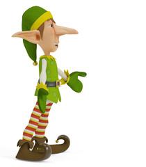 elf the santa helper cartoon in what is up