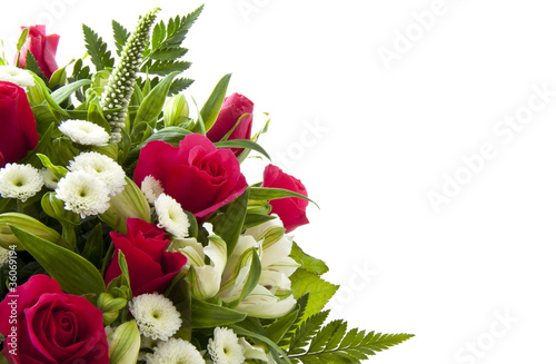 Foto op Plexiglas Roses Flower card