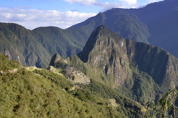 Machu Pichu with Huayna Picchu from far