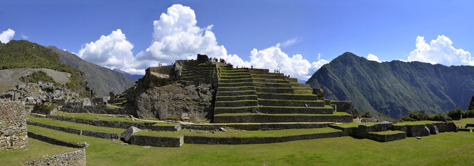Panorama of Terraces at Macchu Picchu