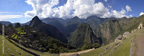 Stitched Panorama of Ruins of Machu Picchu