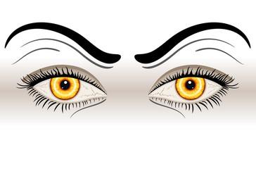 Yellow Evil Eyes - vector EPS AI 8