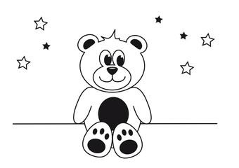 teddy zum ausmalen