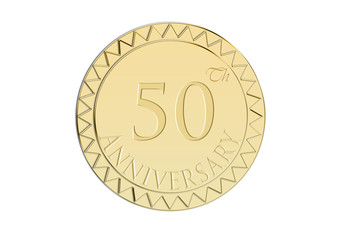 Sello de 50 Aniversario en oro