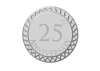 Sello 25 aniversario en plata