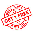 BUY 1 GET 1 FREE Marketing Stamp (sale special offers label)