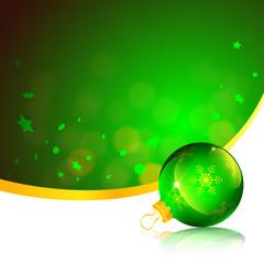 Green Ornament Christmas Card