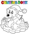 Coloring book Christmas bear
