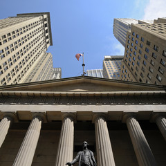 Wall Street, George Washington, Federal Hall, New York, USA