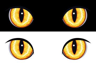 Set of evil animal eyes - vector EPS AI8