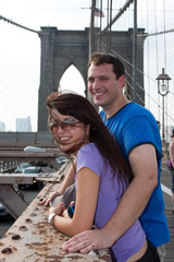 Happy Couple Visiting Brooklyn New York