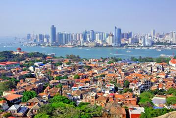 Xiamen aerial view from Gulang-yu island