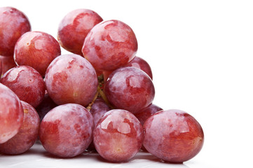 red fresh grapes