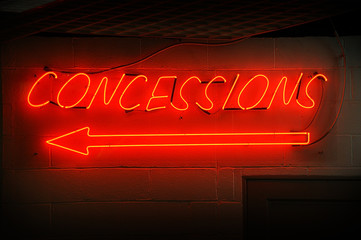 Concessions Neon Sign