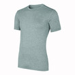 Gray T-shirt template (isolated on white, clipping path)