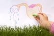 Leinwanddruck Bild - pouring grass