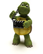 tortoise with a clapper board