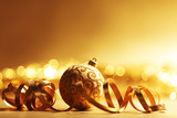 Fototapety golden christmas background