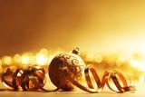 Fototapety golden christmas background