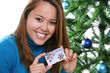Christmas Woman with Gift Card