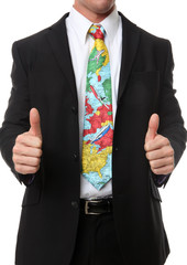 Business Man Travel Tie