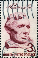 Abraham Lincoln, United States postage.