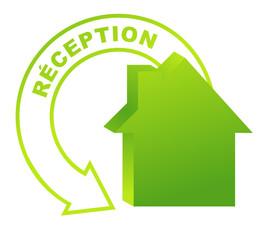 réception sur symbole validé vert