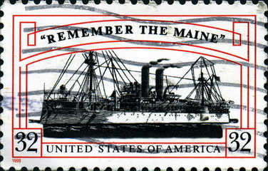 Remember the maine. US Postage.