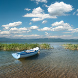 Cloudscape On Lake Prespa, Republic of Macedonia poster