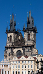 Tyn Church in Prague in Czech