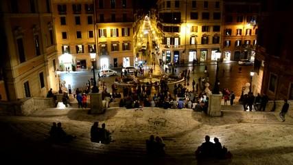 Scalinata di Piazza di Spagna e Via Condotti, Roma