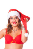 Sexy Woman with Santa Hat