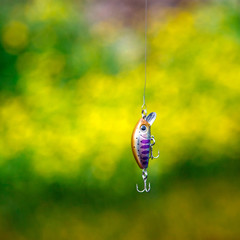 Plastic lure (wobbler) for ultralight