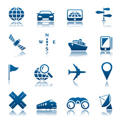 Navigation & transport icon set
