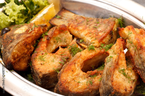 fried fillet carp