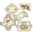 Vector set of vintage framed ornate labels