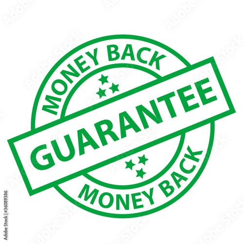 MONEY BACK GUARANTEE Marketing Stamp (price promise sticker tag)