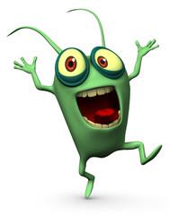 happy green computer virus